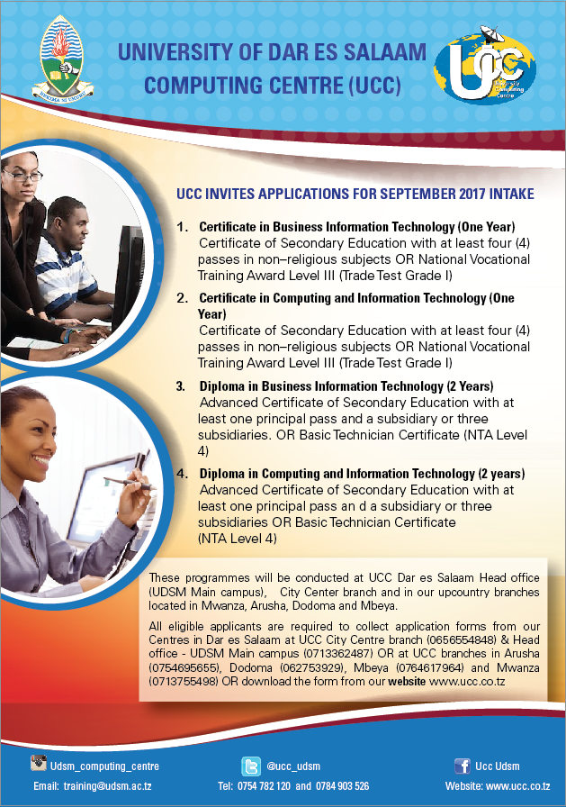 Application for Admission into Certificate & Diploma Programmes for ...